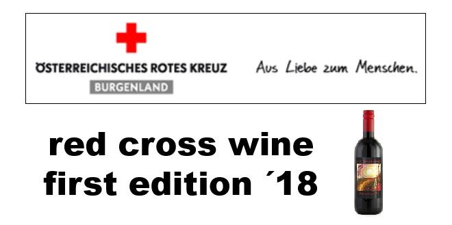 """Ab sofort zu haben: der """"red cross wine, first edition ´18"""""""